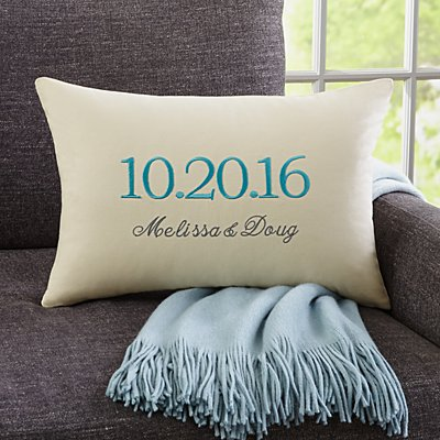 The Big Day Rectangle Throw Pillow