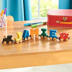 Primary Wooden Name Train