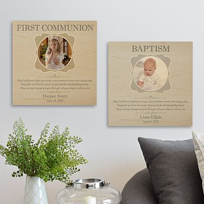 Faithful Blessings Photo Wooden Plaque