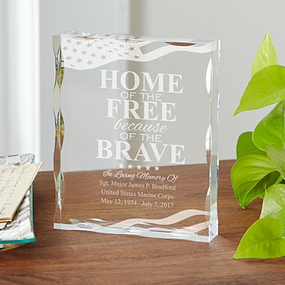 American Hero Memorial Keepsake Block