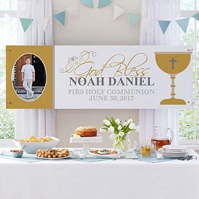 First Communion Celebration Photo Banner