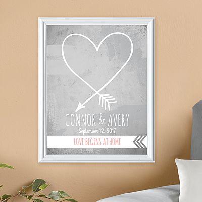 Love Begins at Home Framed Print