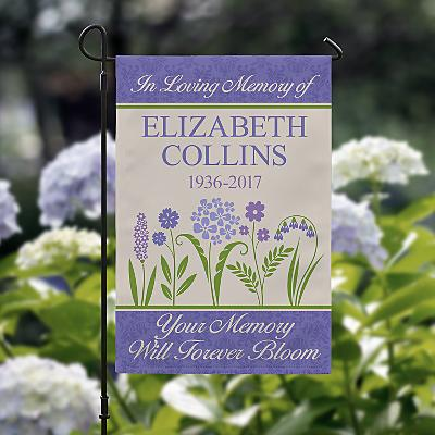 Memories Bloomed Sympathy Garden Flag