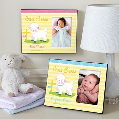 Sweet Blessings Christening Lamb Frame
