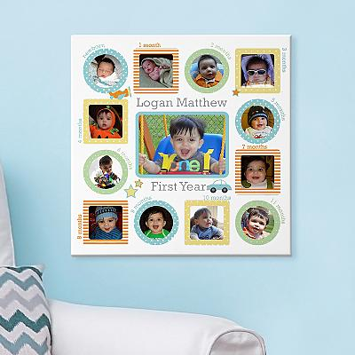 The First Year Photo Canvas