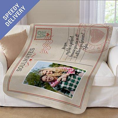 Sent With Love Photo Plush Blanket