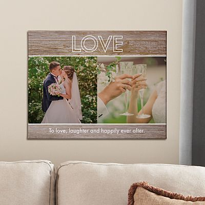 Message Of Love Photo Canvas