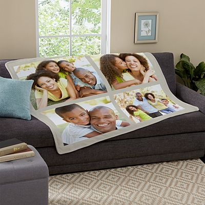 Picture Perfect Photo Tile Plush Blanket
