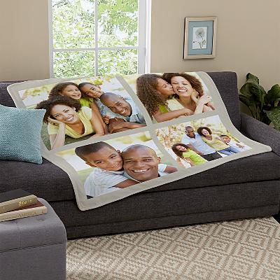 Photo Tile Plush Blanket
