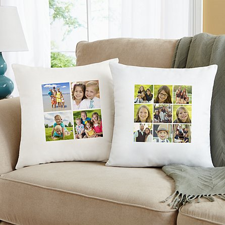 Picture Perfect Photo Tile Throw Pillow Personal Creations