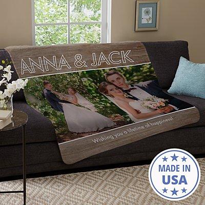 Message Of Love Photo Plush Blanket