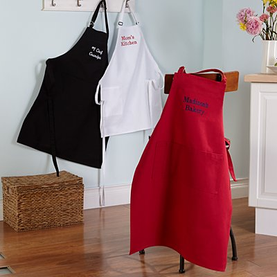 Any Message Embroidered Apron
