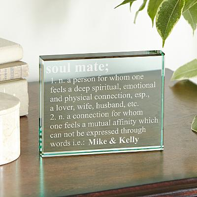 Soulmate Keepsake Glass Block