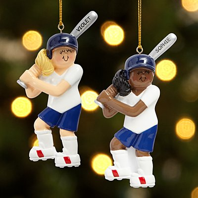 Softball Player Ornament