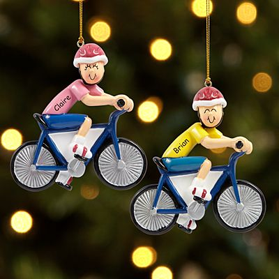 Bicycle Rider Ornament