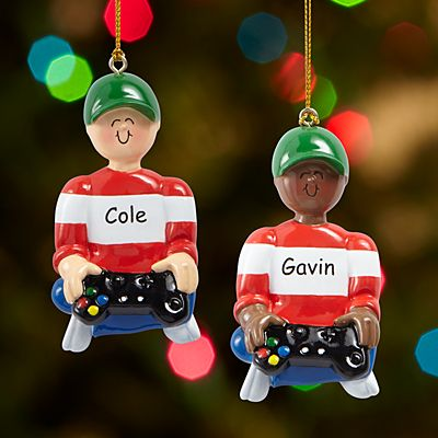 Video Game Player Ornament