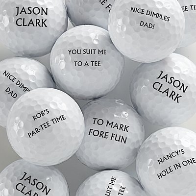Personalized Golf Balls Set 12 - Different Message