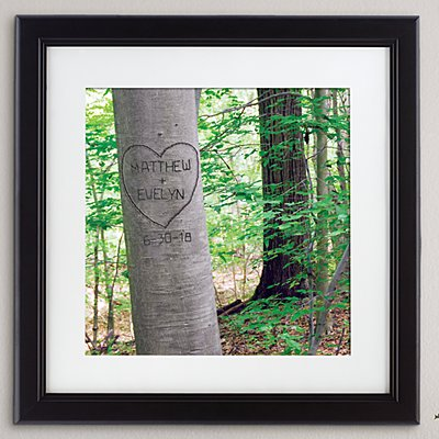 Summer Love Tree Square Framed Print