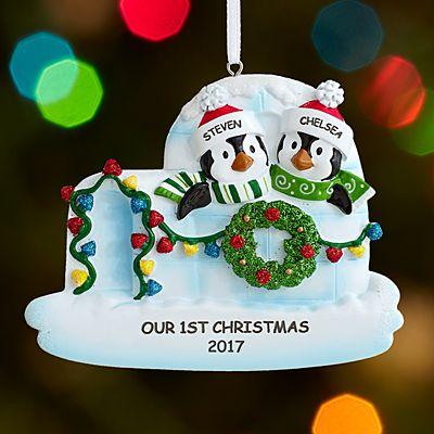 Igloo Couple Ornament