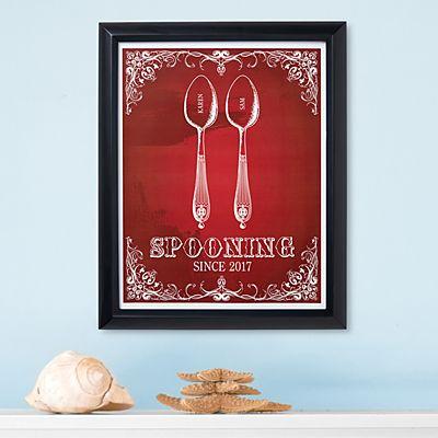 Spooning Framed Print