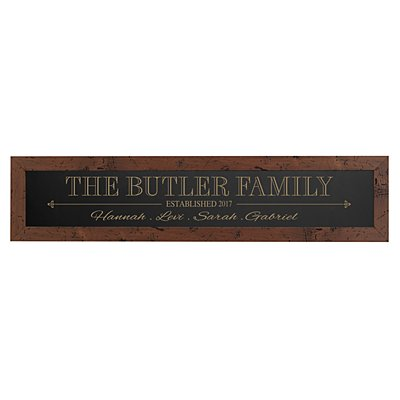 The Whole Family Framed Wood Sign - Black