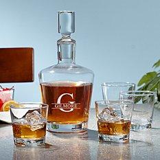5 Piece Liquor Decanter Set