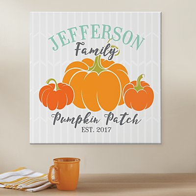 Family Pumpkin Patch Canvas