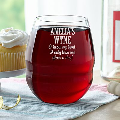 I Know My Limit Colossal Stemless Wine Glass