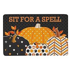 Pattern Pumpkin Doormat-17x27