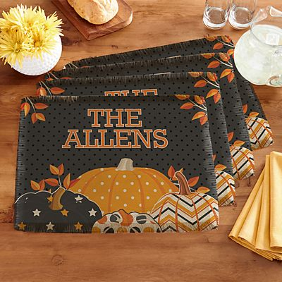 Pattern Pumpkin Placemats