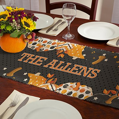 Pattern Pumpkin Table Runner
