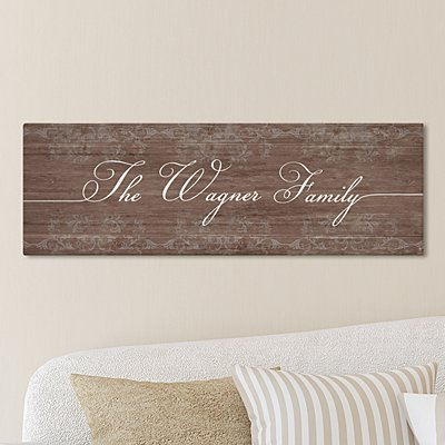 Rustic Scroll Family Canvas