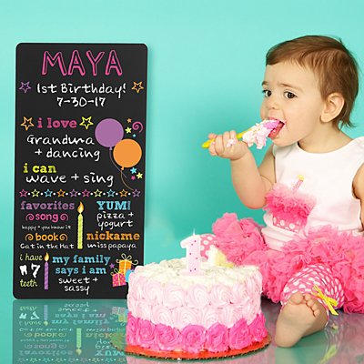 All About Me Birthday Chalkboard