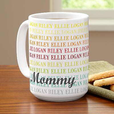 Colourful Family Names Mug