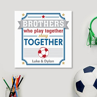 Brothers Stay Together Square Wood Plaque