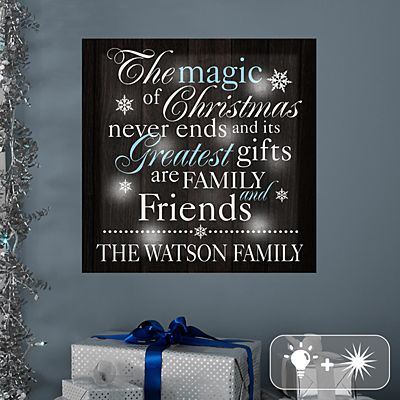 TwinkleBright® LED The Magic of Christmas Canvas