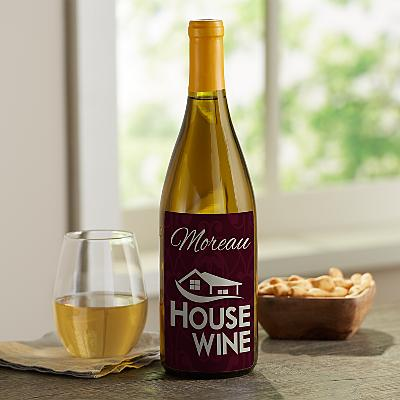 House Wine Custom Wine Labels (Set of 4)