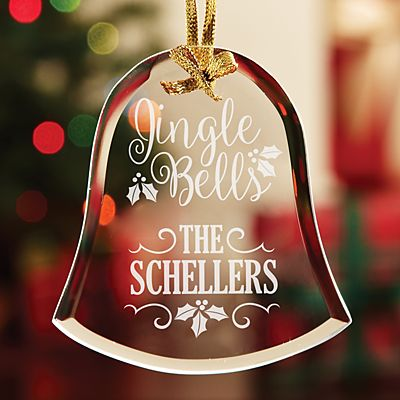 Jingle Bells Glass Ornament