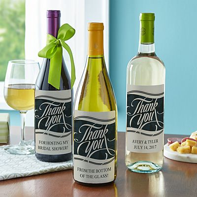 Thank You Custom Wine Labels (Set of 4)