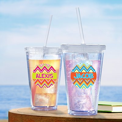 Sun-kissed Chevron Tumbler