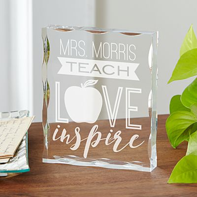 Teach, Love, Inspire Acrylic Block