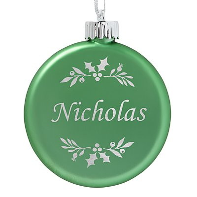 Birthstone Lighted Ornament - August - Holly