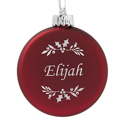 Birthstone Lighted Ornament - January - Holly