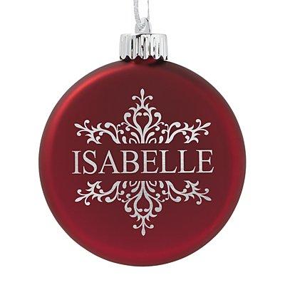 Birthstone Lighted Ornament - January - Snowflake