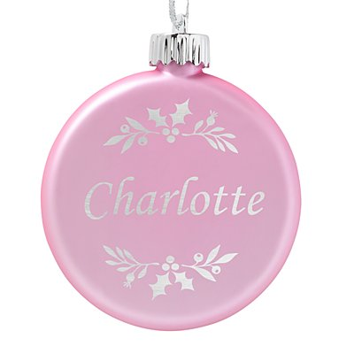 Birthstone Lighted Ornament - June - Holly