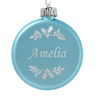 Birthstone Lighted Ornament - March - Holly