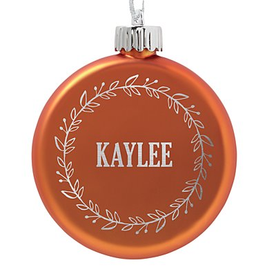 Birthstone Lighted Ornament - November - Wreath