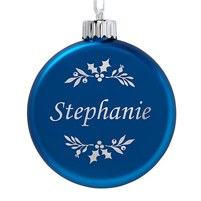 Birthstone Lighted Ornament - September - Holly