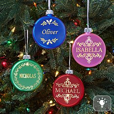 Birthstone Lighted Ornament