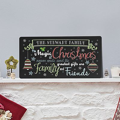 The Magic of Christmas Chalkboard